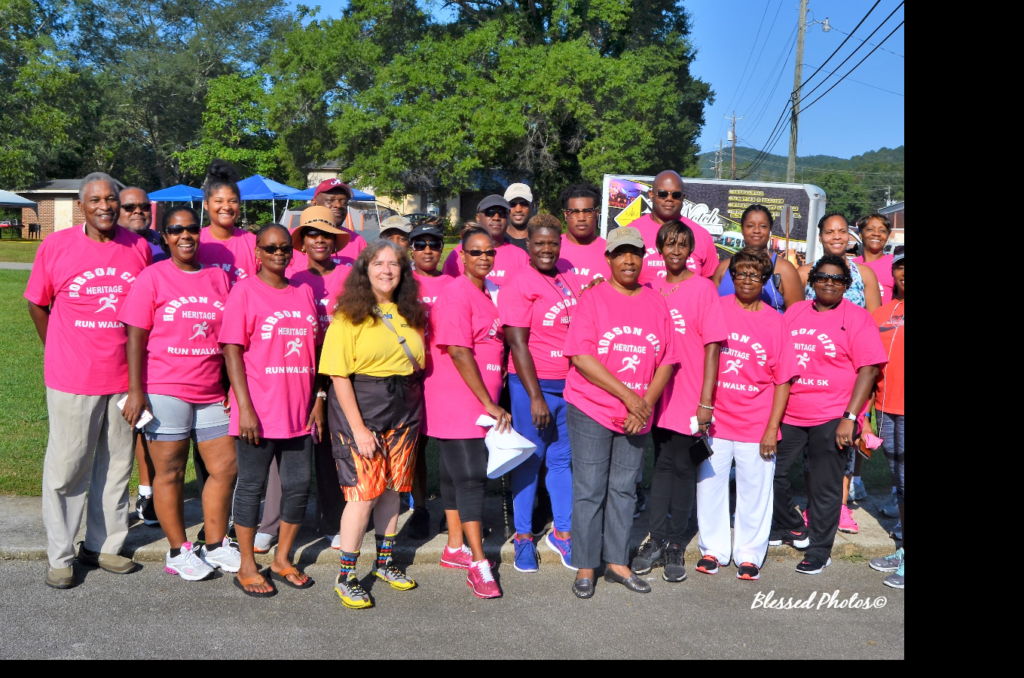 Hobson City celebrated its 118th anniversary on August 19, 2017. The day kicked off with the Annual 5K Heritage Walk Run. Residents and former residents joined together with others to raise funds for the community library, seniors, arts and cultural programming.